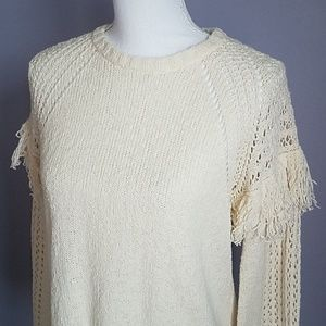BCBGeneration Sweaters - BCBGeneration Fringed Pullover Sweater